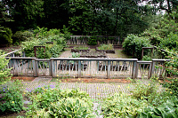 view [Josselyn Garden]: a custom made fence and stone raised beds at the vegetable garden. digital asset: [Josselyn Garden]: a custom made fence and stone raised beds at the vegetable garden.: 2010 Jun.