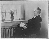 view [Miscellaneous Images in Virginia]: an unidentified woman in a chair by a window. digital asset: [Miscellaneous Images in Virginia] [safety film negative]: an unidentified woman in a chair by a window.