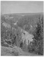 view [Yellowstone National Park]: Upper Yellowstone Falls and the Yellowstone River. digital asset: [Yellowstone National Park] [glass negative]: Upper Yellowstone Falls and the Yellowstone River.