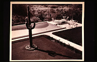 view Benton House: view of garden and pool from the overlook. digital asset: Benton House: view of garden and pool from the overlook.: 1950