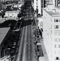 view Atlantic Ave. Looking North from Ocean Blvd., Long Beach, California, from the Long Beach Documentary Survey Project digital asset number 1