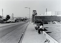 view Public Transit Areas, Magnolia Ave. and Anaheim St., Looking North, from the Long Beach Documentary Survey Project digital asset number 1