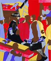 view Community (study for mural, Jamaica, NY) digital asset number 1