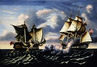view Capture of H.B.M. Frigate Macedonian by U.S. Frigate United States, October 25, 1812 digital asset number 1