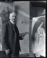 view Unidentified artist in his studio [photograph] / (photographed by Peter A. Juley & Son) digital asset number 1