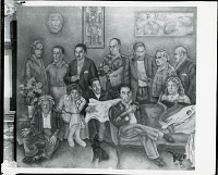 view Group Portrait with Twelve Artists [painting] / (photographed by Peter A. Juley & Son) digital asset number 1