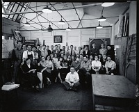 view Yasuo Kuniyoshi with his class [photograph] / (photographed by Peter A. Juley & Son) digital asset number 1