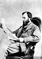 view Spencer Fullerton Baird Sitting in a Chair Reading digital asset number 1