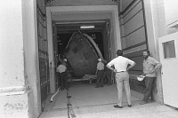 view Apollo 11 Command Module Moving Out of A&I digital asset number 1