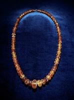 view Martha Washington's amber necklace digital asset: Amber necklace owned by Martha Washington