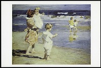 "view Postcard of ""Beach Scene"" digital asset number 1"