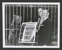 view Senator Frank E. Moss and U.S. Forest Service Assistant Chief Edward P. Cliff, with Smokey Bear digital asset number 1