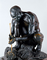 "view Bronze Statue & Base - ""Le Feu"" or ""The Fire Maker"", by Herbert Ward digital asset number 1"