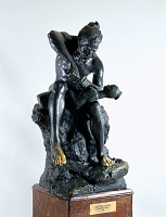 "view Bronze Statue & Base - ""L'Idole"" or ""The Idol Maker"", by Herbert Ward digital asset number 1"