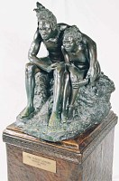 "view Bronze Statue and Base - ""Les Bantu"" or ""The Forest Lovers"", by Herbert Ward digital asset number 1"