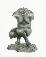 "view Bronze Statuette Of Torso Of Crouching Woman - ""Fragment"", by Herbert Ward digital asset number 1"