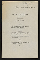 view American Federation of Arts records digital asset: Constitution and By-Laws
