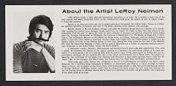 view LeRoy Neiman papers digital asset: Artist Biographies