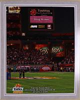 view Photograph, Tostitos Fiesta Bowl, scoreboard commemoration of Brown digital asset: Photograph, Tostitos Fiesta Bowl, scoreboard commemoration of Brown