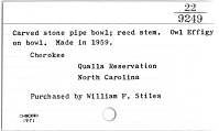 thumbnail for Image 2 - Pipe bowl and pipestem