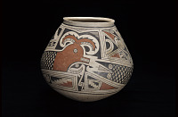thumbnail for Image 5 - Jar with feathered serpent design
