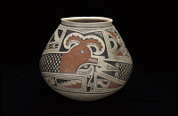 thumbnail for Image 2 - Jar with feathered serpent design