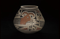 thumbnail for Image 3 - Jar with feathered serpent design