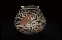 thumbnail for Image 4 - Jar with feathered serpent design