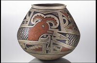 thumbnail for Image 1 - Jar with feathered serpent design