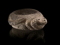 thumbnail for Image 1 - Paint mortar in the form of a rattlesnake