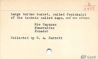 thumbnail for Image 4 - Burden basket with burden strap/tumpline