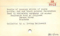 thumbnail for Image 3 - Invitation/message sticks for Midewiwin rituals (Image withheld)