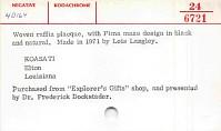 thumbnail for Image 3 - Basket plaque