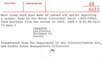 thumbnail for Image 2 - Stick barrette/bun holder with salmon design