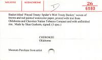 thumbnail for Image 2 - Pieced Treaty: Spider's Web Treaty Basket