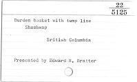 thumbnail for Image 2 - Burden basket with burden strap/tumpline