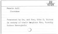 thumbnail for Image 2 - Female doll