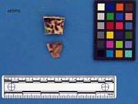 view Tortoiseshell creamware (Whieldon); base sherd digital asset number 1