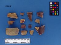 view Brown stoneware rim sherds digital asset number 1