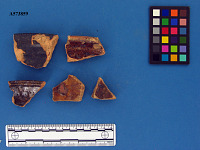 view Earthenware sherds with brown or black glaze digital asset number 1