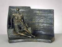 view Draped Seated Figure against Curved Wall digital asset number 1