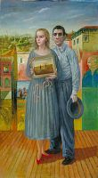 view Portrait of the Artist and his Wife at Coney Island digital asset number 1