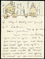 thumbnail image for Alfred Joseph Frueh letter to Giuliette Fanciulli