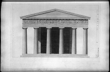 The elevation of the eastern front of the Temple of Theseus