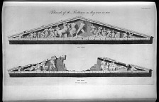 Pediments of the Parthenon, as they were in 1683.