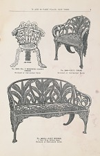 No. 249-No. 5 Morning Glory Chair. No. 266 Lily Chair. No 266 ½ Lily Settee.