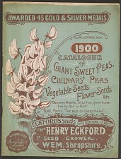 Catalogue of Giant Sweet Peas, Culinary Peas, Vegetable Seeds.