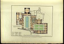 Plan de la Casa Real Arabe en la fortaleza de la Alhambra.