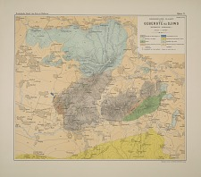 Geologische kaart van het gebergte bij djiwo (residentie soerakarta)