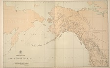General Map. Adjacent parts of North America and Asia.